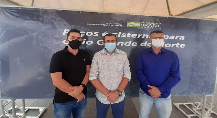 ENCONTRO COM MINISTRO DO MDR, ROGÉRIO MARINHO E O DEPUTADO FEDERAL, JOÃO MAIA