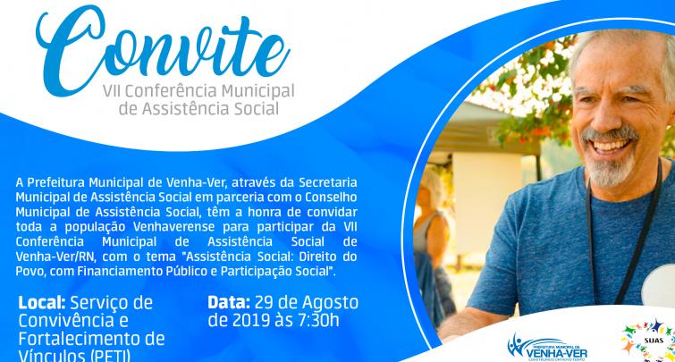 CONVITE - VII CONFERÊNCIA MUNICIPAL DE ASSISTÊNCIA SOCIAL