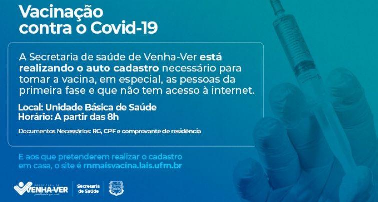 CADASTRO PARA PARTICIPAR DO PROCESSO DE VACINAÇÃO DO COVID-19