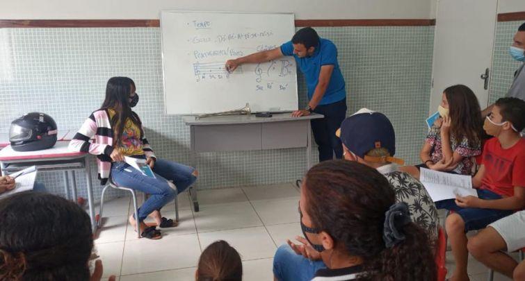 INÍCIO DAS ATIVIDADES DA BANDA DE MÚSICA DANIEL AMORIM