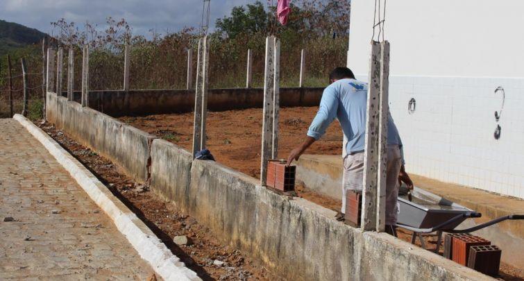 CONSTRUÇÃO DO MURO DA ESCOLA PEDRO TRAJANO TORRES