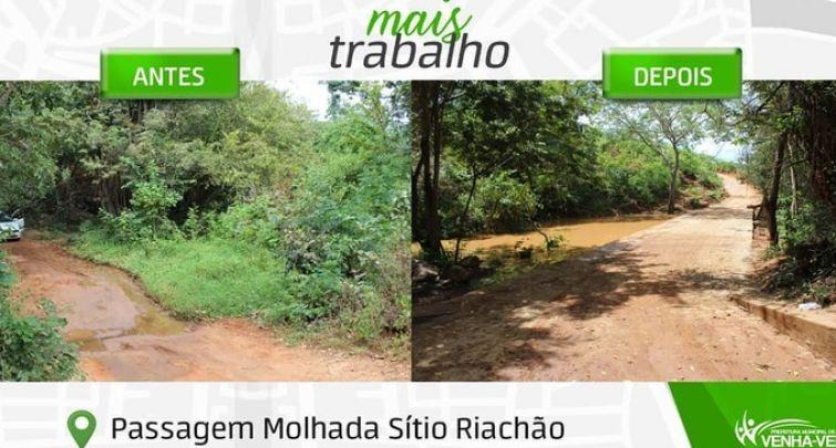 ANTES E DEPOIS PASSAGEM MOLHADA SÍTIO RIACHÃO